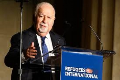 Vartan Gregorian speaking at Refugees International's 40th Anniversary Dinner, April 30, 2019
